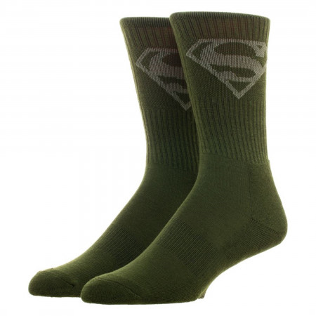 Superman and Wonder Woman Salute to Service Crew Socks 2-Pair Pack