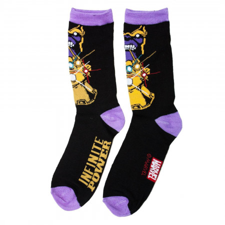 Thanos Head and Gauntlet Crew Socks 2-Pair Pack