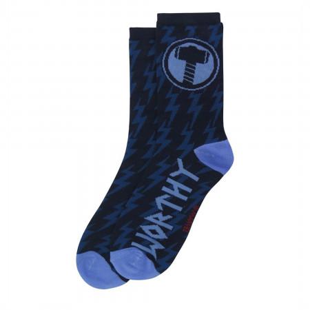 Thor Mjolnir and Stormbreaker Crew Socks 2-Pair Pack