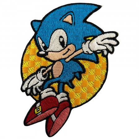 Leaping Sonic The Hedgehog Patch