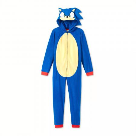Sonic The Hedgehog Costume Kids Union Suit