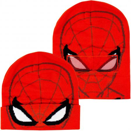Spider-Man Costume Pull Down Mask Beanie
