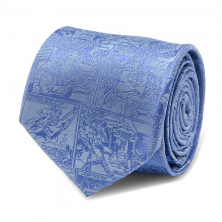 Superman Comic Blue Mens Tie