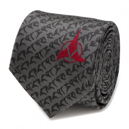 Star Trek Klingon Gray Men's Silk Tie
