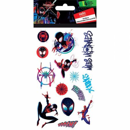 Spider-Man Miles Morales Spidey Stickers 4-Sheet Set
