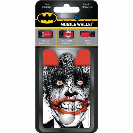 Joker Character Portrait Smile 3-in-1 Mobile Wallet