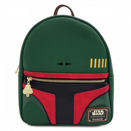 Boba Fett Faux Leather Mini Backpack