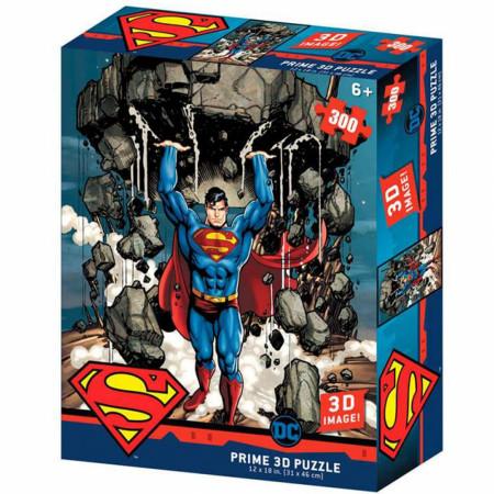 DC Comics Superman Lifting A Building 3D Image 300pc Puzzle