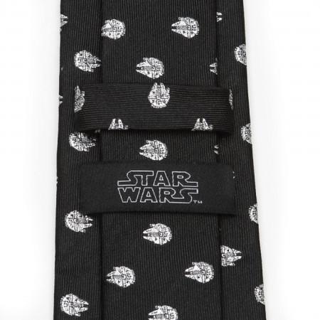 Star Wars Millennium Falcon Metallic Silver Men's Silk Tie