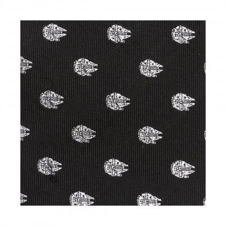 Star Wars Millennium Falcon Metallic Silver Men's Silk Tie