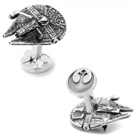 Star Wars 3D Millennium Falcon Cufflinks