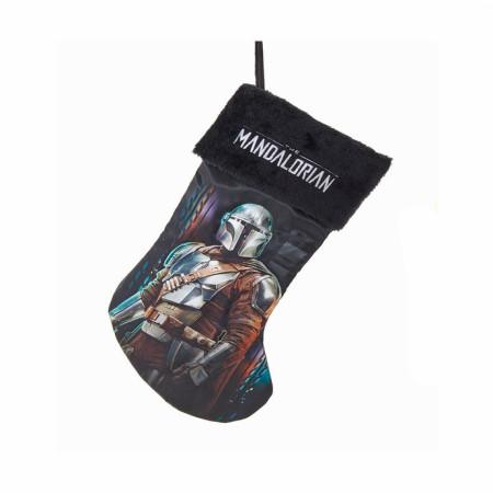 Star Wars The Mandalorian Din Djarin Christmas Stocking w/ Plush Cuff