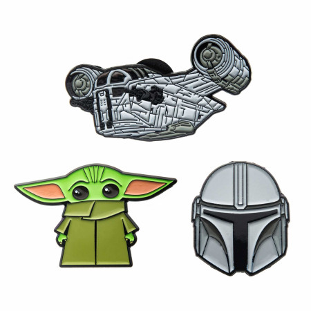 Star Wars The Mandalorian and The Child Enamel Pin Set