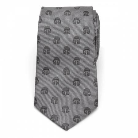 Star Wars The Mandalorian Helmet All Over Silk Tie