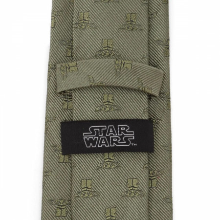 Star Wars The Mandalorian The Child Green Silk Tie