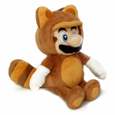 Super Mario Bros. Tanooki 9 Inch Plush Toy