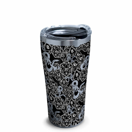 Dungeons & Dragons Dice Pattern 20oz Stainless Steel Travel Mug