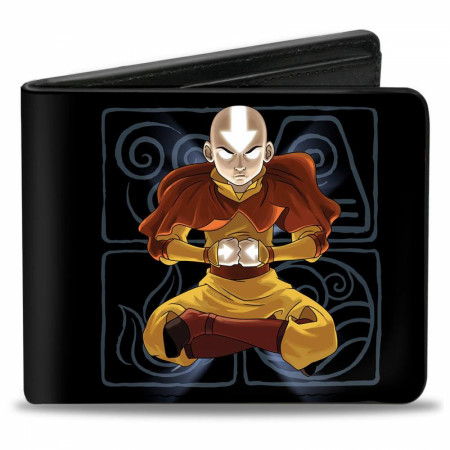 Avatar The Last Airbender Aang Meditating Pose Bi-Fold Wallet