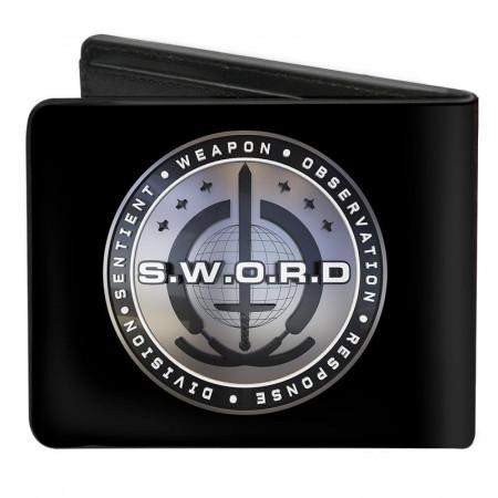 Marvel Studios WandaVision Series S.W.O.R.D. Logo Bi-Fold Wallet