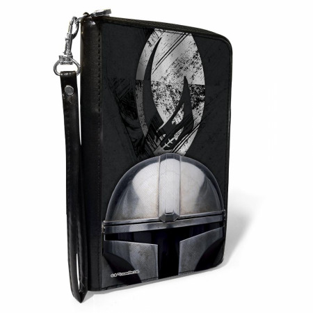 Star Wars The Mandalorian Mudhorn Armor Helmet Zip Around Wallet