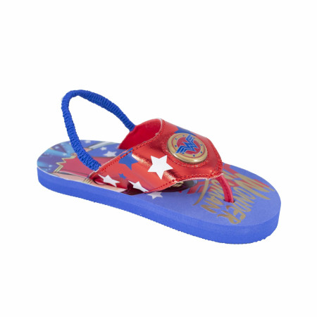 Wonder Woman Lighted Kids Flip Flops