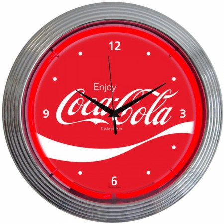 Enjoy Coca Cola Wave Neon Light Clock