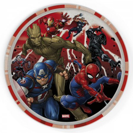 Marvel Universe 8in Melamine Bamboo Plate With Rim