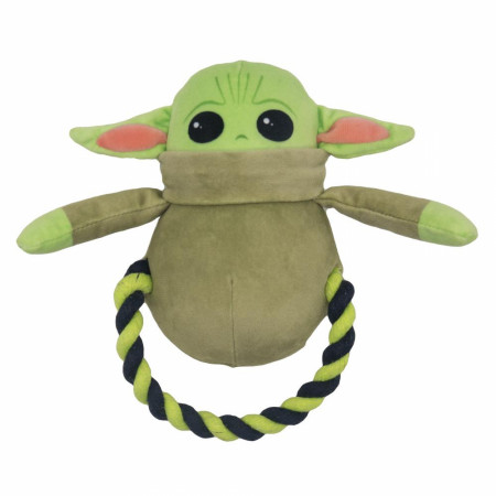 Star Wars The Child Grogu Shaped Plush and Rope Dog Toy