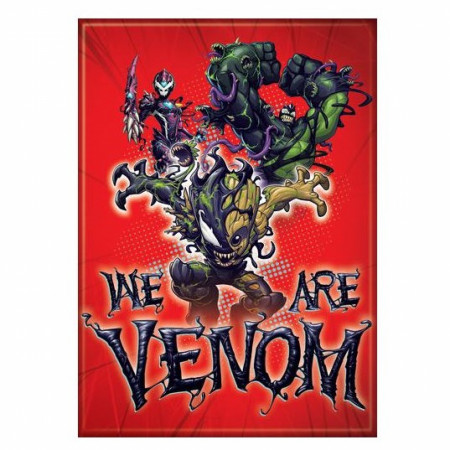 We Are Venom Venomized Marvel Heroes Magnet