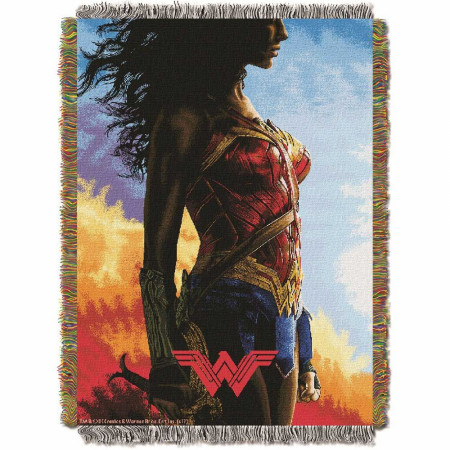 Wonder Woman Classy Warrior Tapestry Throw