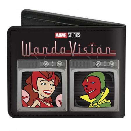 Marvel Studios WandaVision Series Television Black-in-White or Color Bi-Fold Wallet