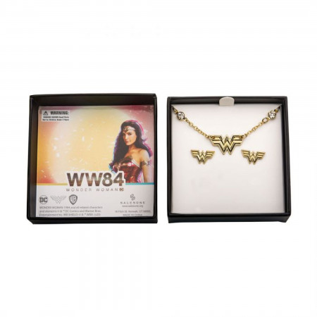 DC Comics Wonder Woman 1984 Necklace and Earrings Set
