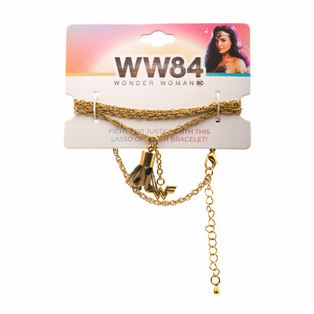 Wonder Woman 1984 Movie Logo Wrap Lasso Bracelet