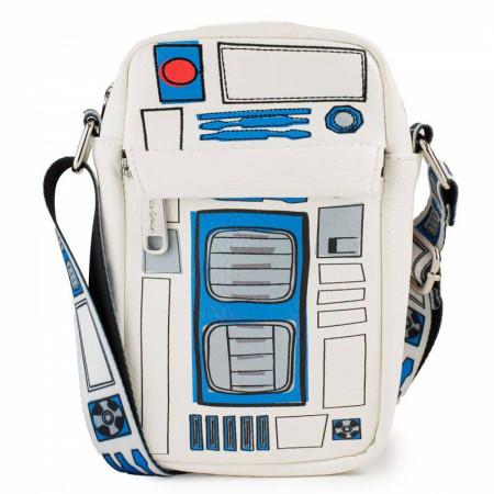 Star Wars R2-D2 Bounding Parts Crossbody Vegan Leather Bag