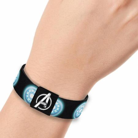 Marvel Avengers Iron Man Arc Reactor 1 Inch Elastic Bracelet