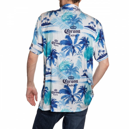 Corona Extra Beer Blue Palm Island Hawaiian Shirt